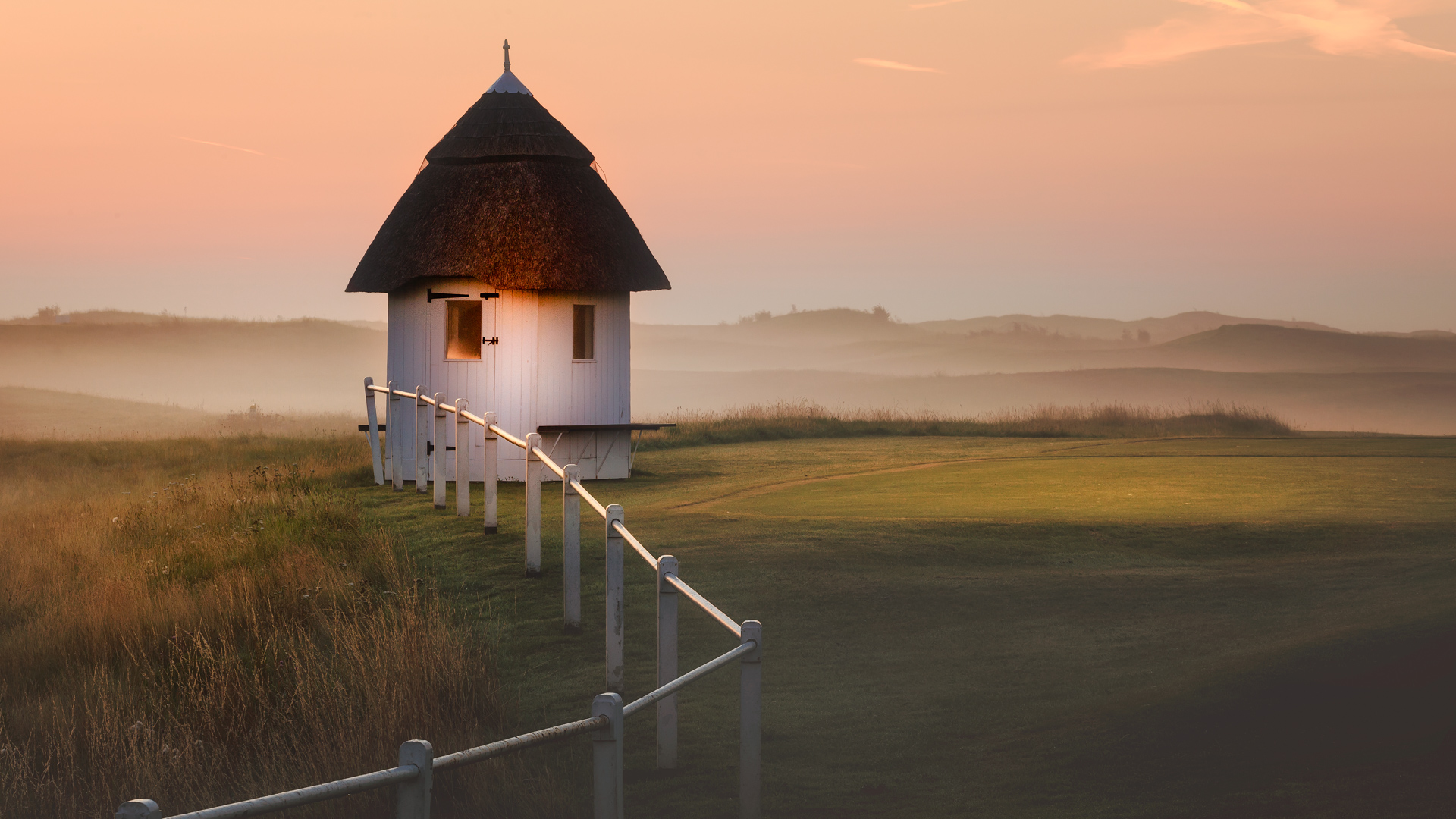 Starters huts at the Royal St. George's Golf Club
